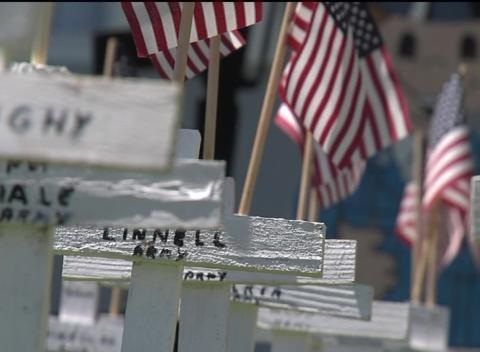 News video: Man Turns Front Yard Into Replica of Arlington National Cemetery